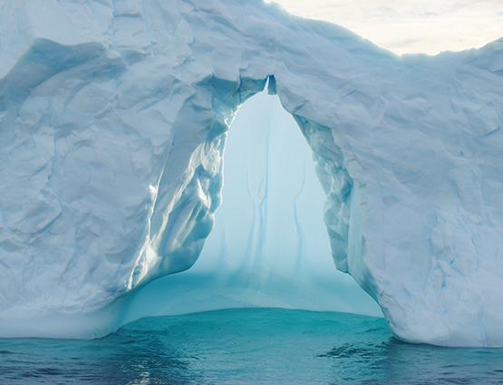 Zoom sur un petit iceberg - Péninsule antractique et cercle polaire | Les Mondes Polaires