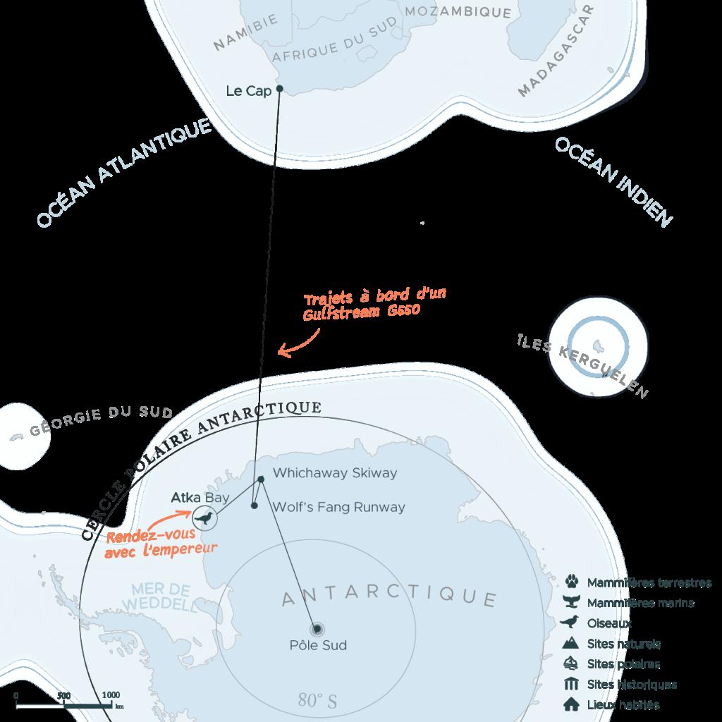 Carte expedition au pole sud | Les Mondes Polaires