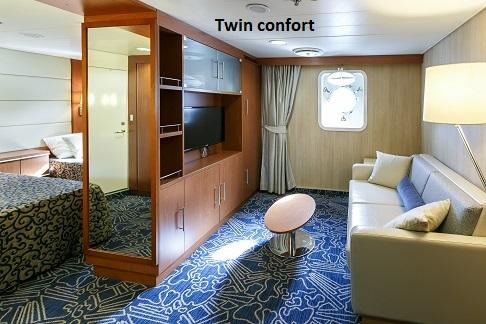 Cabine twin confort du bateau d'expédition Ocean Endeavour - Région polaire | Les Mondes Polaires