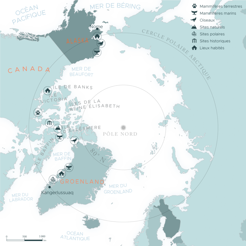 Carte passage du Nord-Ouest | Les Mondes Polaires