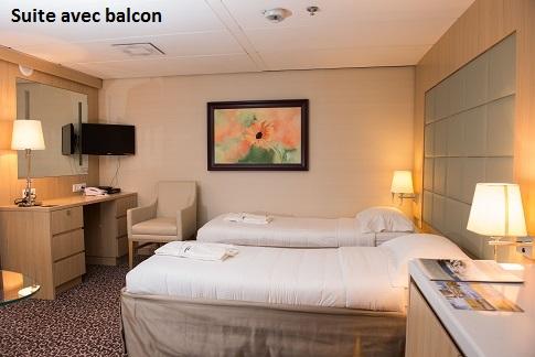 Cabine Balcony Suite du bateau d'expédition Ocean Diamond - Région polaire | Les Mondes Polaires
