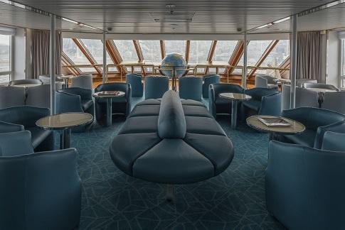 Salon d'observation du bateau d'expédition Ocean Diamond - Région polaire | Les Mondes Polaires