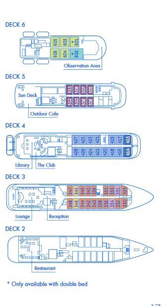 Plan du bateau d'expédition Hebridean Sky - Région polaire | Les Mondes Polaires