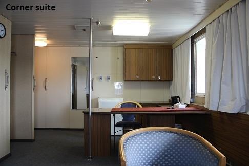 Cabine corner suite du bateau d'expédition Kapitan Khlebnikov - Région polaire   Les Mondes Polaires