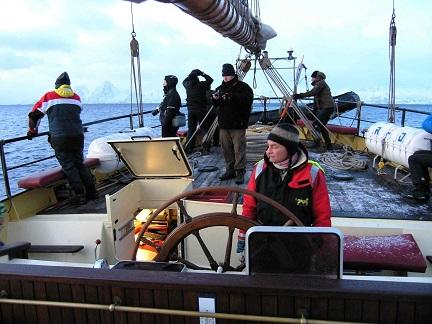 Pont du voilier d'expédition Noorderlicht - Région polaire | Les Mondes Polaires