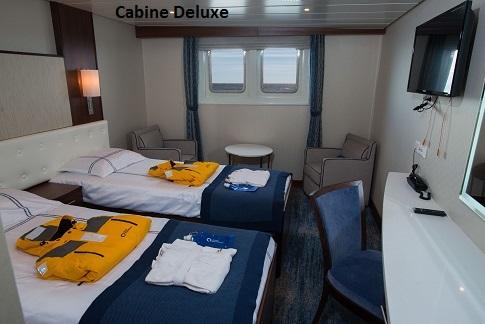 Cabine deluxe du bateau d'expédition Ocean Adventurer - Région polaire | Les Mondes Polaires
