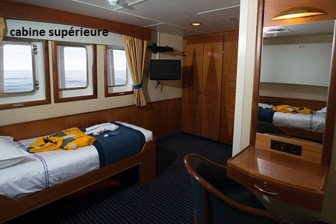 Cabine supérieure du bateau d'expédition Ocean Adventurer - Région polaire | Les Mondes Polaires