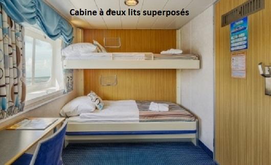 Cabine upper twin du bateau d'expédition Ocean Nova - Région polaire | Les Mondes Polaires