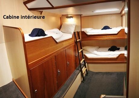 Cabine interieure du voilier d'expédition Rembrandt - Région polaire | Les Mondes Polaires
