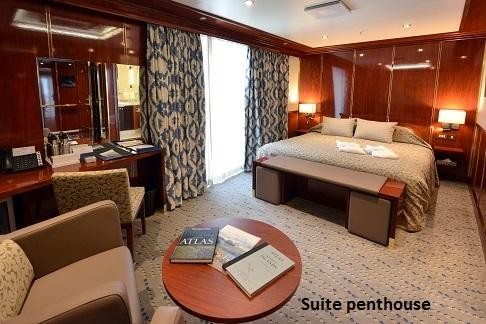 Cabine suite penthouse du bateau d'expédition Hebridean Sky - Région polaire | Les Mondes Polaires