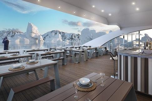 Terrasse du bateau d'expédition Magellan Explorer - Région polaire | Les Mondes Polaires