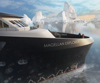 Proue du bateau d'expédition Magellan Explorer - Région polaire | Les Mondes Polaires
