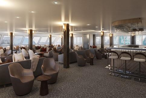 Lounge du bateau d'expédition Magellan Explorer - Région polaire | Les Mondes Polaires