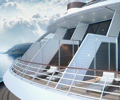 Balcons du bateau d'expédition Commandnat Charcot - Région polaire | Les Mondes Polaires