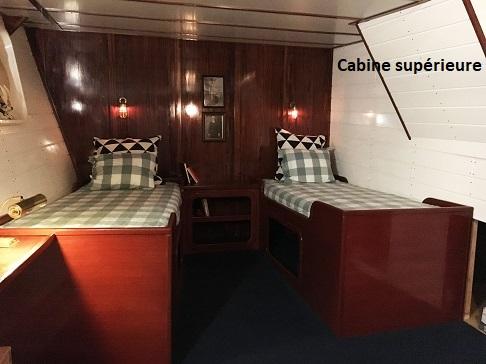 Cabine supérieure du bateau d'expedition Balto - région polaire | Les Mondes Polaires