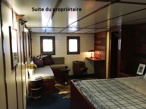 Cabine suite proprietaire du bateau d'expedition Balto - région polaire | Les Mondes Polaires