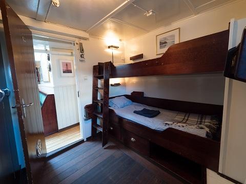Cabine deux lits du bateau d'expedition Stockholm - région polaire | Les Mondes Polaires
