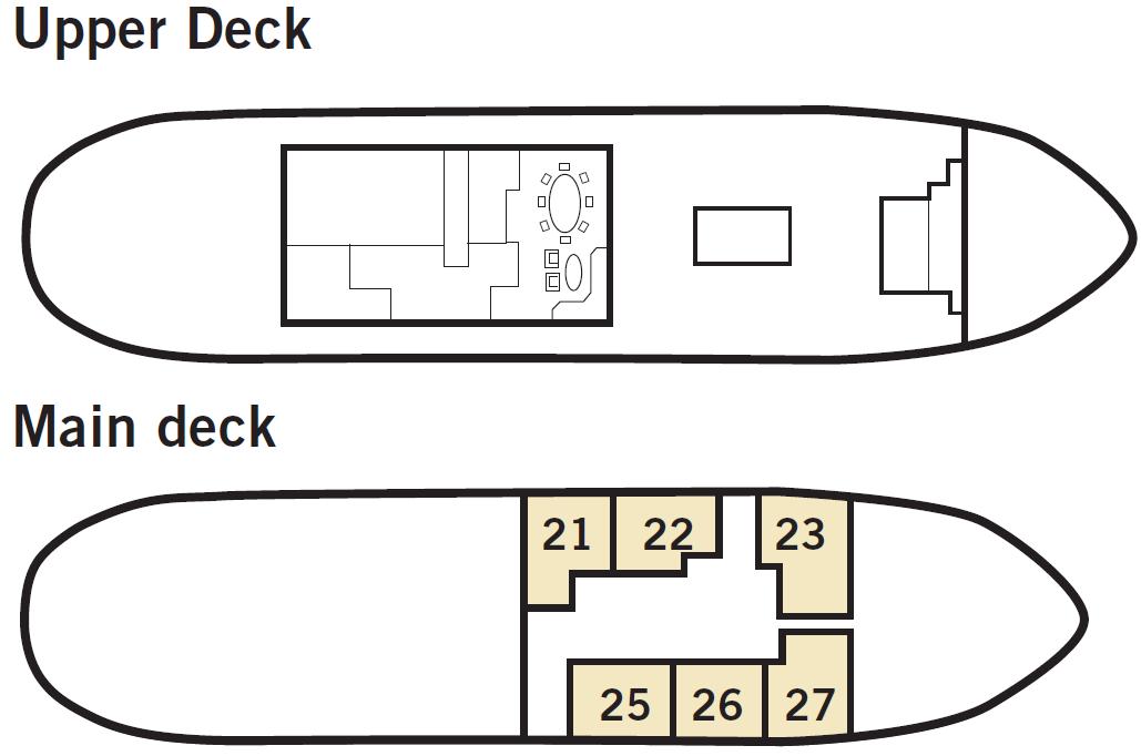 Plan du bateau d'expedition Stockholm - région polaire | Les Mondes Polaires